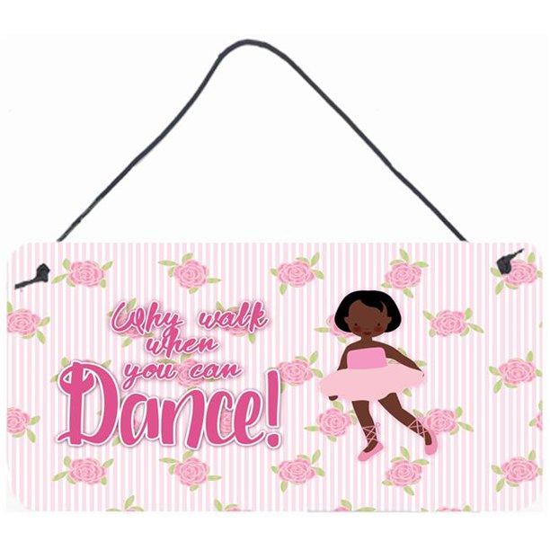 Carolines Treasures Bb5384ds812 Ballet African American Short Hair Wall Or Door Hanging Prints Walmart Com Walmart Com