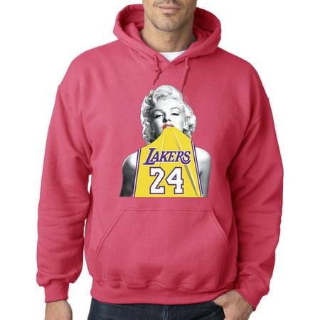 Trendy USA 412 - Adult Hoodie Marilyn Monroe Lakers 24 Kobe Bryant Jersey Sweatshirt Small Heliconia (Kobe Nike Hoodie)
