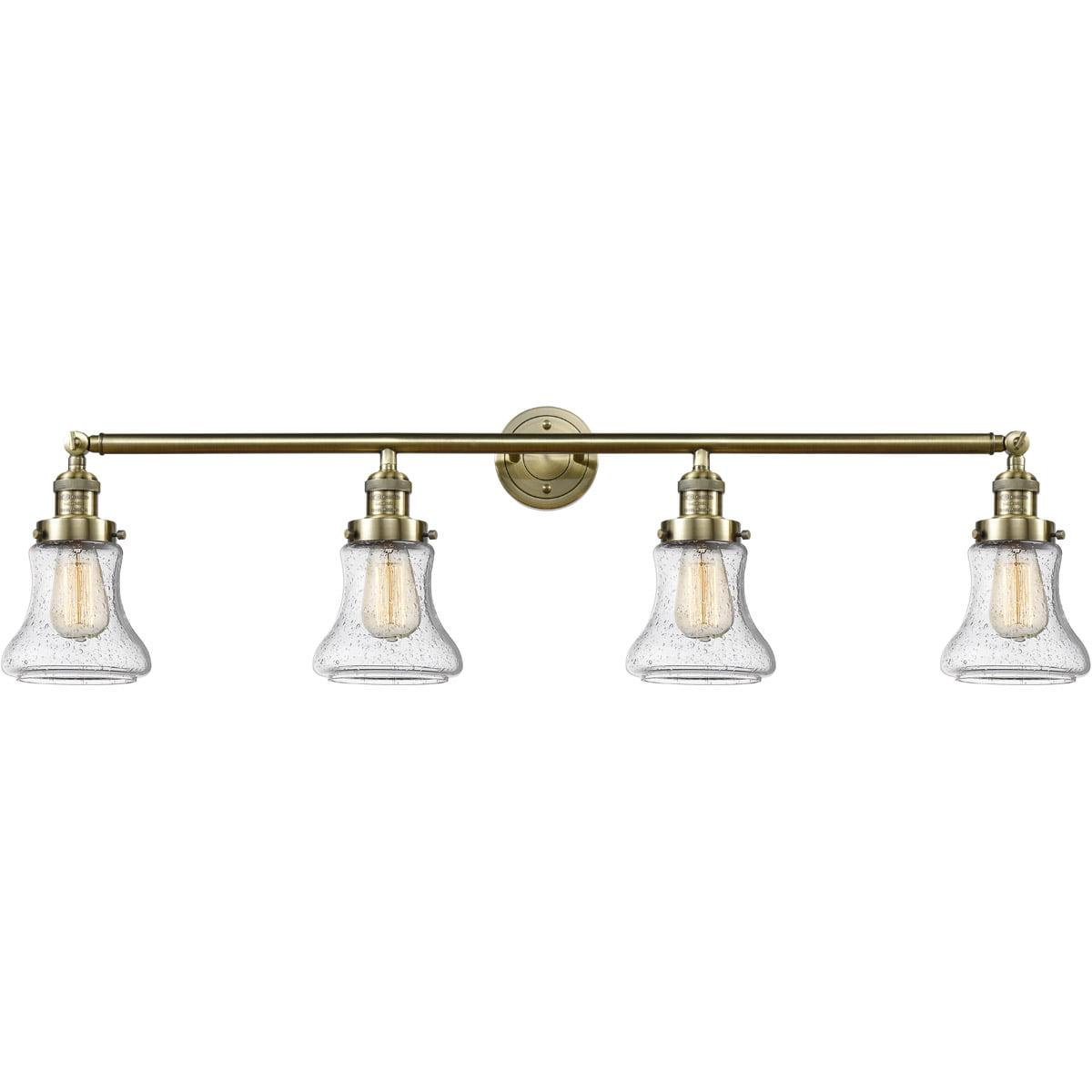 Bathroom Vanity 4 Light Fixtures With Antique Brass Finish ...