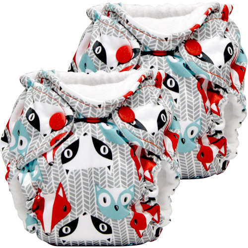 Kanga Care Lil Joey All in One Newborn Cloth Diaper, Clyde, 2 count