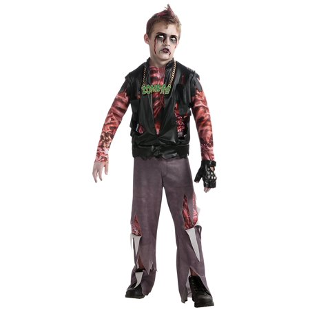 Boy's Zombie Punk Rocker #1 Costume Small
