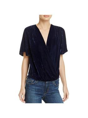 155b97834ded8 Product Image Ella Moss Womens Velvet V-Neck Casual Top