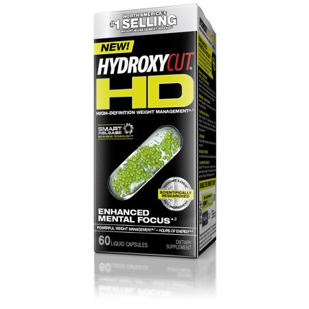 Hydroxycut HD High-Definition Weight Loss 60 Liquid Capsules Weight Lost Supplement