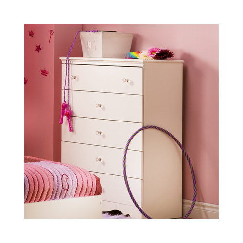 Bundle-54 South Shore Crystal 5-Drawer Chest (2 Pieces)