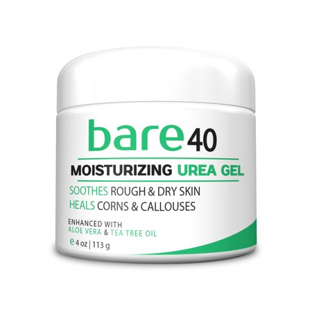 Bare Urea Foot Cream 40% - Best Corn & Callus Remover - Skin Exfoliator & Moisturizer, Rehydrates Feet, Elbows and Knees, Repairs Thick, Callused, Dead and Dry Skin 4oz Cream Gel ()