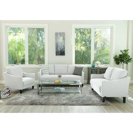 Devon & Claire Elise Fabric Sofa, Loveseat and Armchair Set, Multiple Colors