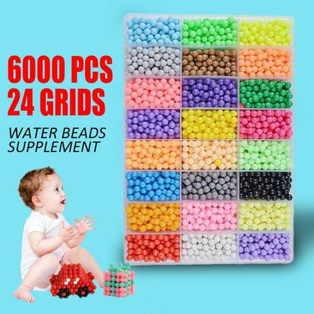 Sticky Toys (6000pcs DIY Water Sticky Fuse Beads Magic Plastic Toys Funny Kid Craft Safe)