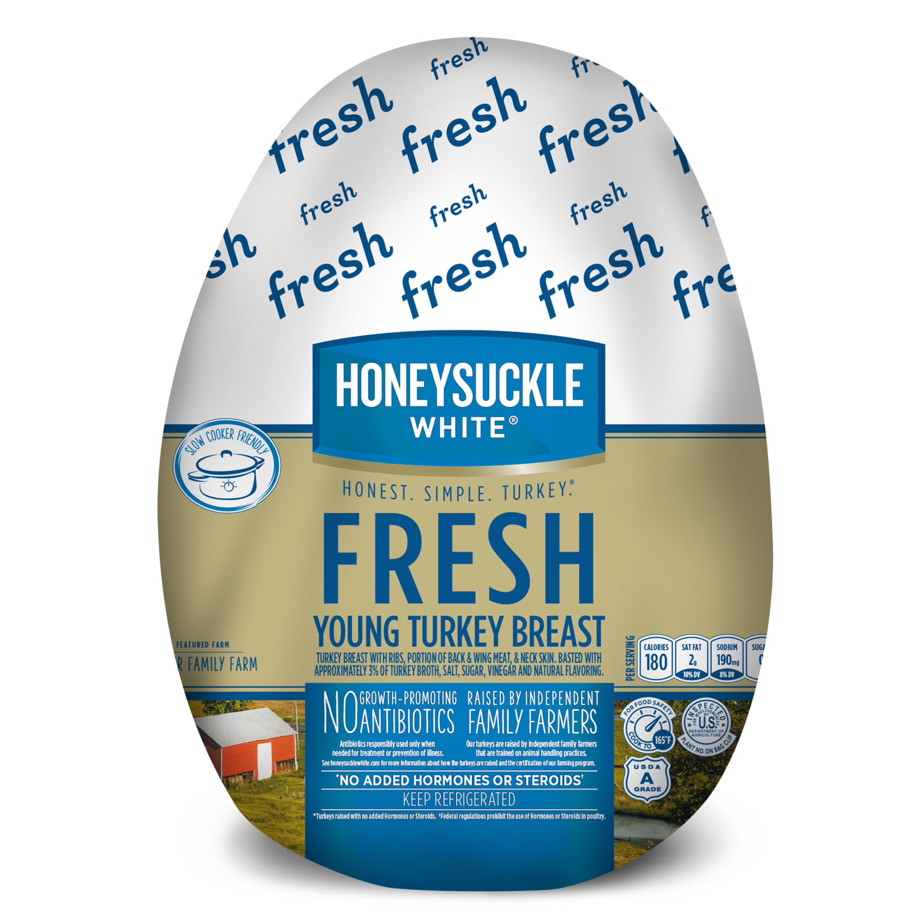 Honeysuckle White Fresh Turkey Breast, Bone-In 2.5-10.0 lb