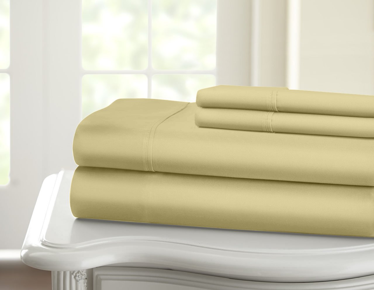 Chic Home 1000 Thread Count 4 Piece Luxury Sheet Set Queen Solid White SS0660-507-AN