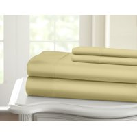 1200 Thread Count 100% Cotton Solid Sheet Set (Full, Taupe)