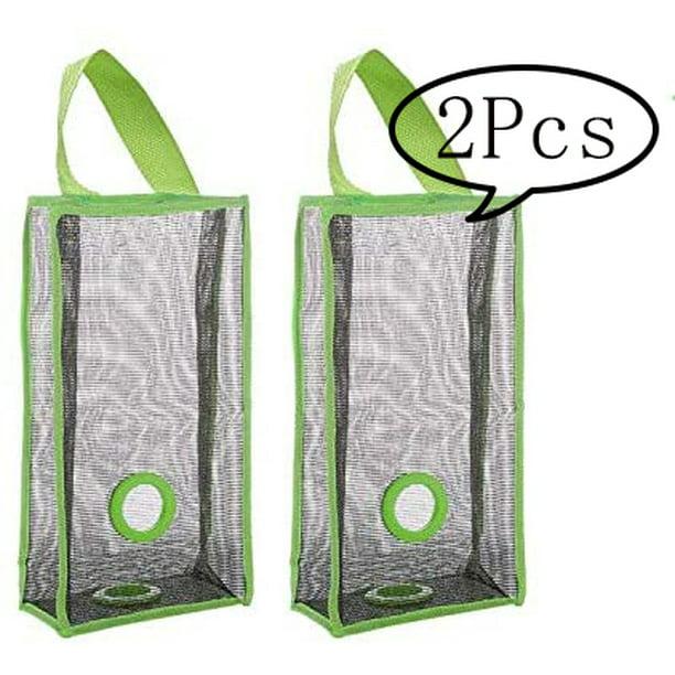 Details about  /2pcs Plastic Bag Holder Dispenser Home Kitchen Wall Mount Storage Box Organizer