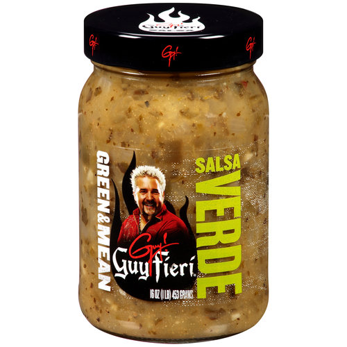 Guy Fieri Green & Mean Mild Salsa Verde, 16 oz