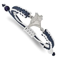 Toronto Blue Jays Women's Stainless Steel Adjustable Cord Bracelet