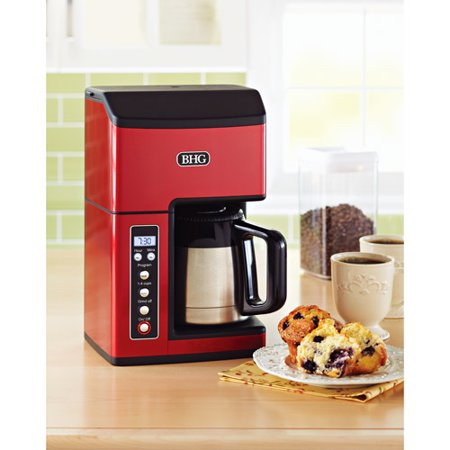 Grind And Brew Coffee Maker Sam S Club : Better Homes and Gardens Fully Automatic Thermal 10-Cup Grind & Brew Coffee Maker, Red - Walmart.com