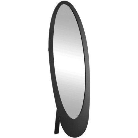 Mirror 59 Quot H Black Contemporary Oval Frame Walmart Com