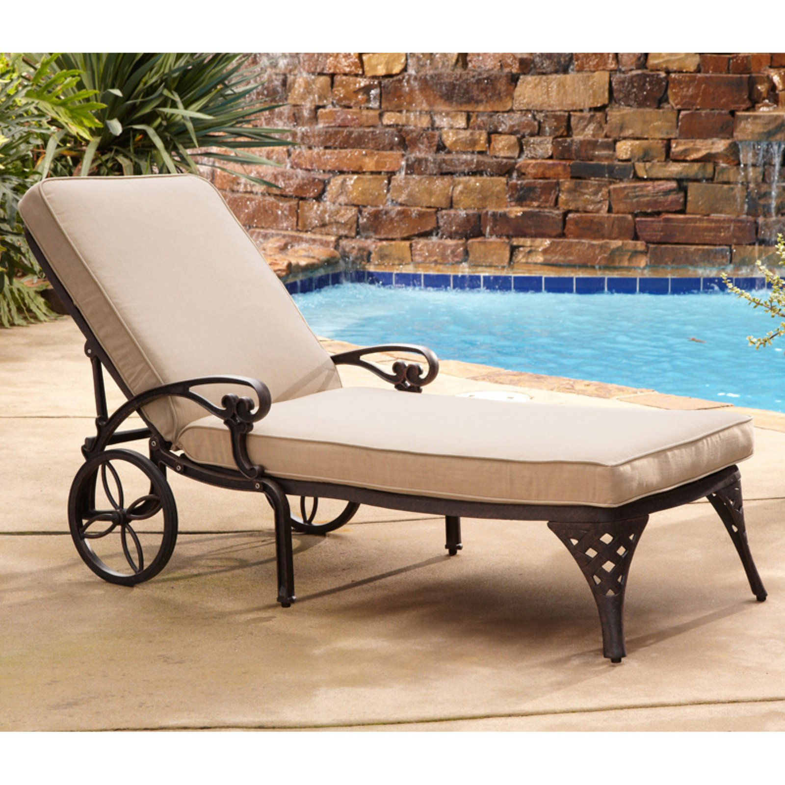 Exceptional Home Styles Biscayne Outdoor Chaise Lounge Chair