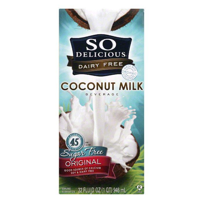 So Delicious Original Sugar Free Coconut Milk Beverage, 32 FO (Pack of 12)