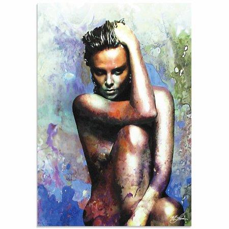 Metal Art Studio Charlize Theron Blue Daze 2 By Mark Lewis Painting Print