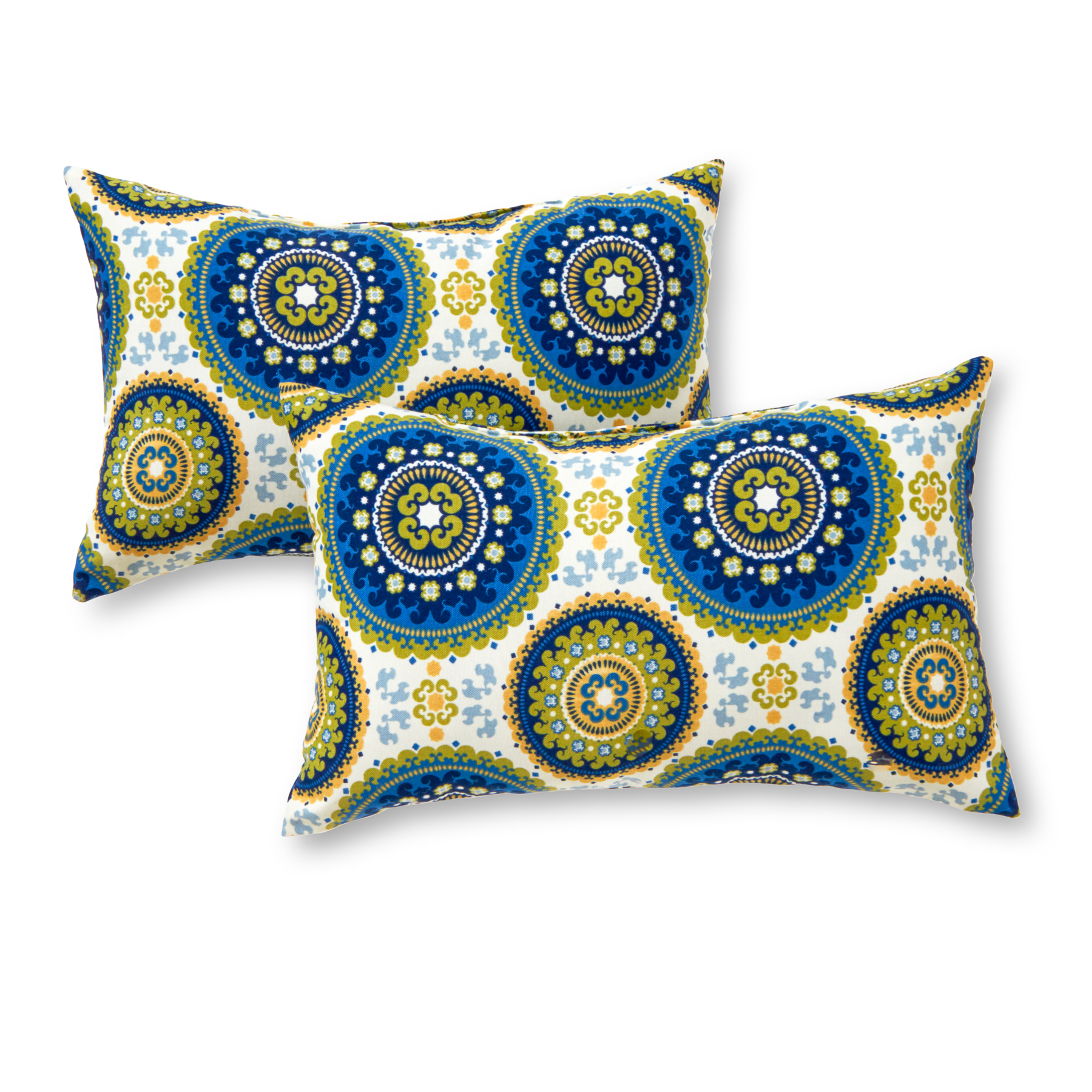 Medallion 19 x 12 in. Outdoor Rectangle Accent Pillow, Set of 2