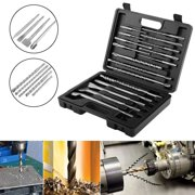 Dioche 17pcs Drill Bits and Chisels Set for Electric Rotary Hammers Concrete Drilling Grooving Tools, Rotary Hammer Drill Bits,Concrete Drilling Bits