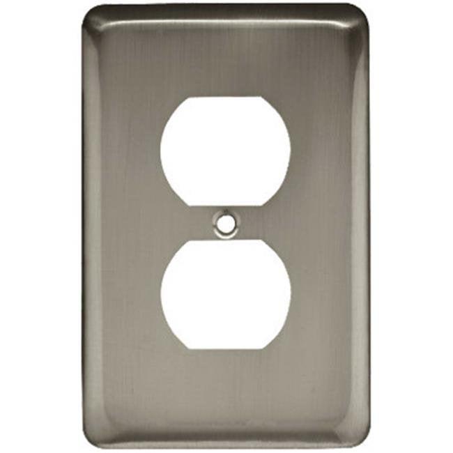 Liberty Hardware W10249-SN-U Satin Nickel Stamped 1 Gang Duplex Wall Plate - image 1 of 1
