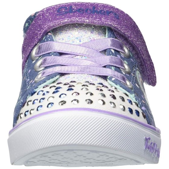 249e53f01357 skechers kids girls' sparkle lite-unicorn craze sneaker, denim/lavender, 11  medium us little kid skechers kids girls sparkle lite-unicorn craze  sneaker, ...