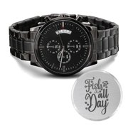 Best Fishing Watches - Fish All Day Engraved Multifunction Fishing Watch Stainless Review