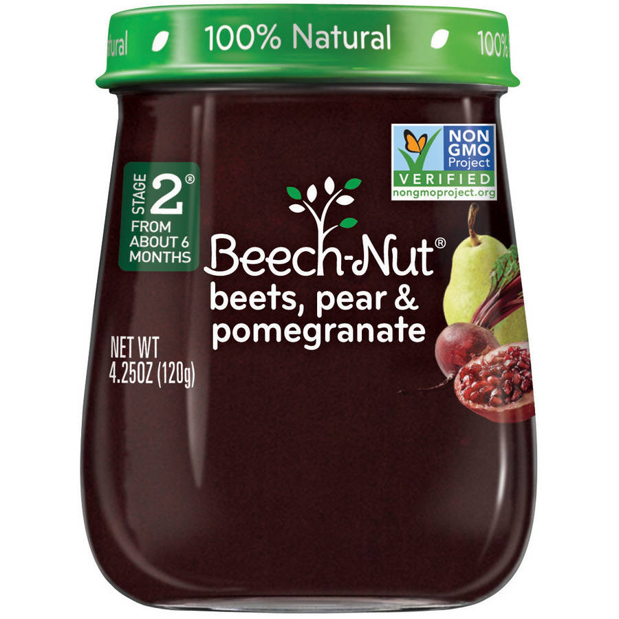 Beech-Nut Naturals Stage 2 Beets, Pear & Pomegranate Baby Food, 4.25 oz, (Pack of 10)