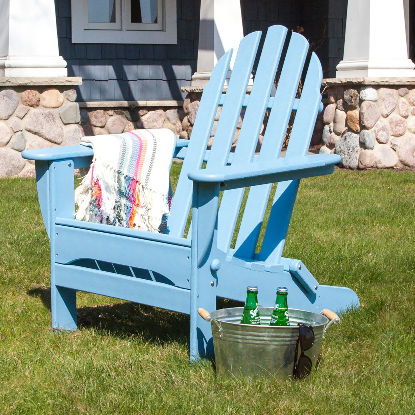 recycled plastic adirondack chairs. POLYWOOD\u0026reg; Classic Recycled Plastic Foldable Adirondack Chair - Walmart.com Chairs