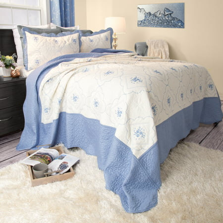 Somerset Home 3pc Brianna Embroidered Quilt Bedding Set