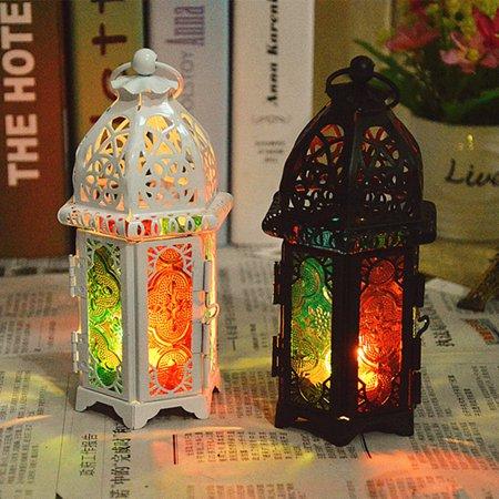 Vintage Hollow Hanging Candle Holder Candlestick Lantern Stand Home Decoration ()