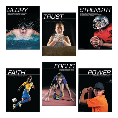 Fun Express - Photography Sports Posters - Educational - Learning Aids - Learning Charts - 6 Pieces](Learning Express Miami)