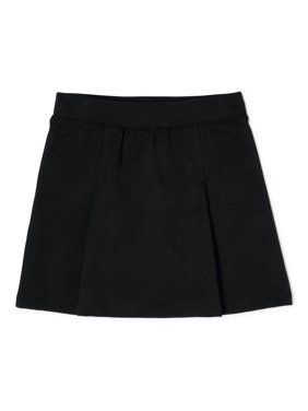 Wonder Nation Girls School Uniform Stretch Ponte Knit Scooter Skirt, Sizes 4-16
