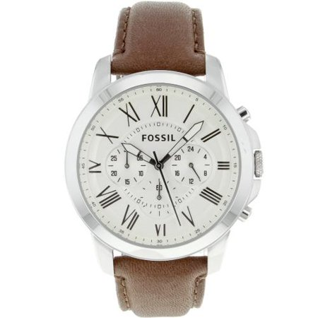 Fossil Grant Chronograph Leather Men's Watch, FS4735