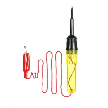 Voltage Tester Electrical Voltage Test Pen 6V/12V/24V Circuit Tester with Indicator Light Alligator Clip