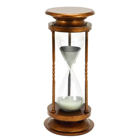Metal/Glass 60 Minutes Hourglass Nice Looking Table Decor ()