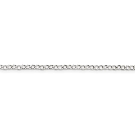 925 Sterling Silver 2.5mm Wide Curb Chain 18 Inch - image 3 de 5