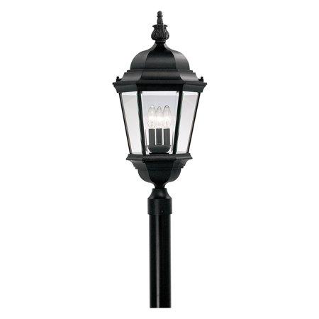 Designers Fountain Outdoor 2956-BK Builder Cast Aluminum Post Lantern