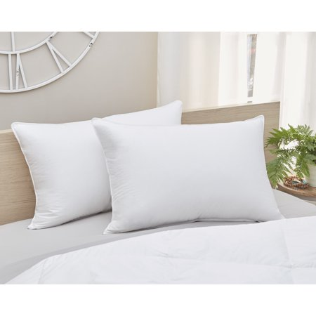 Image of Amberly Bedding 700 Fill Power White Goose Down Pillow Medium Fill King Size