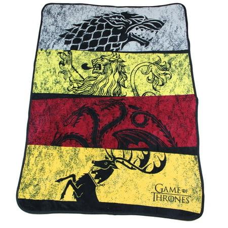 46 Throw Blanket (Game of Thrones House Sigil's Soft Fleece Throw Blanket 46