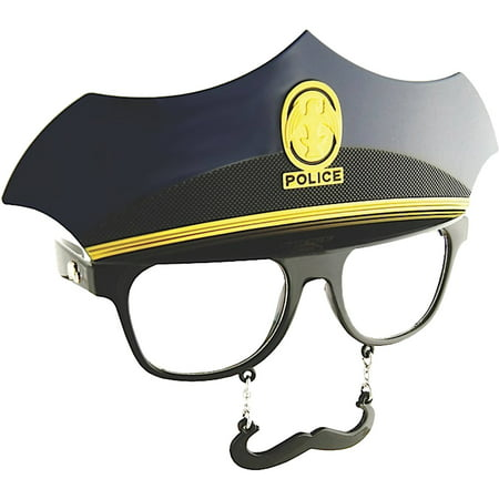 Police Clear Sunstache Adult Halloween Accessory (Halloween Safety Tips From Police)