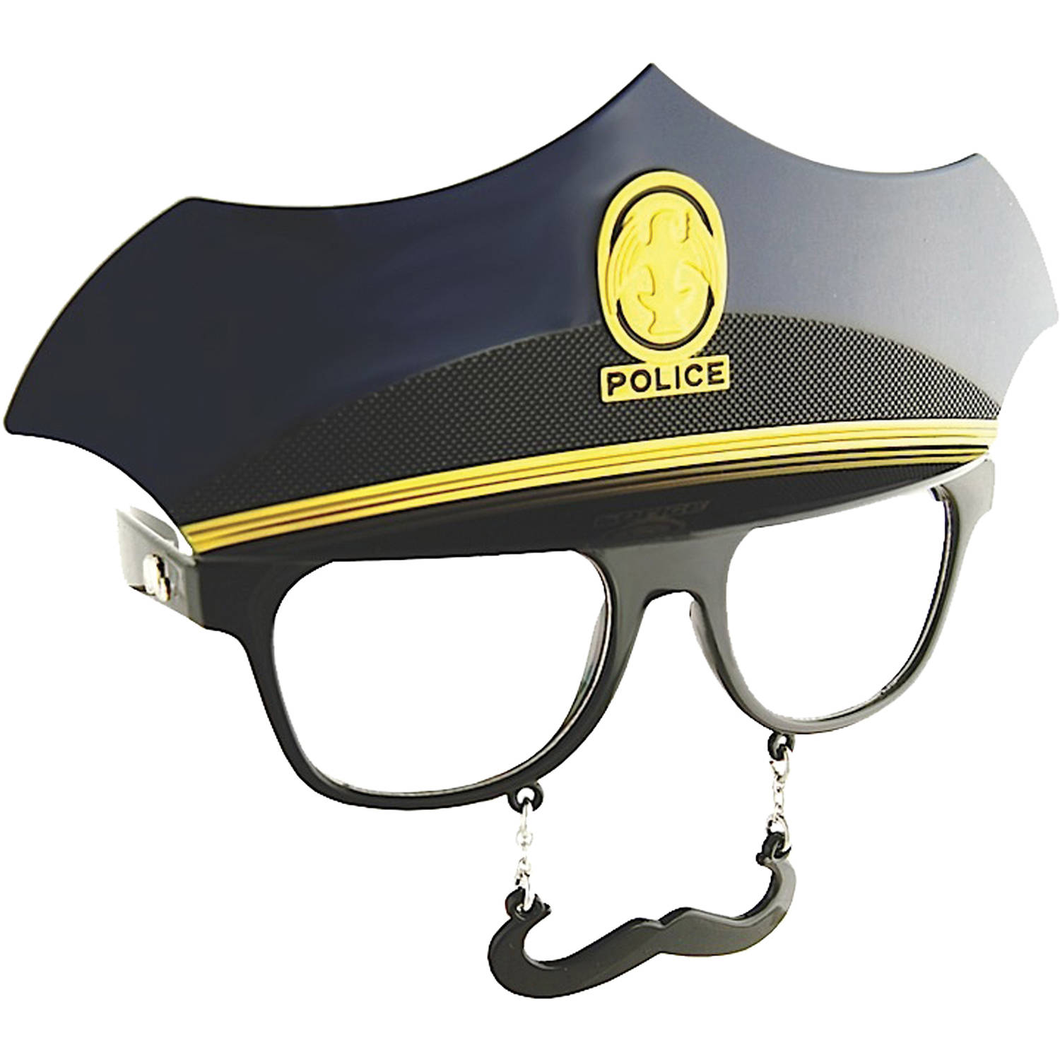Police Clear Sunstache Adult Halloween Accessory