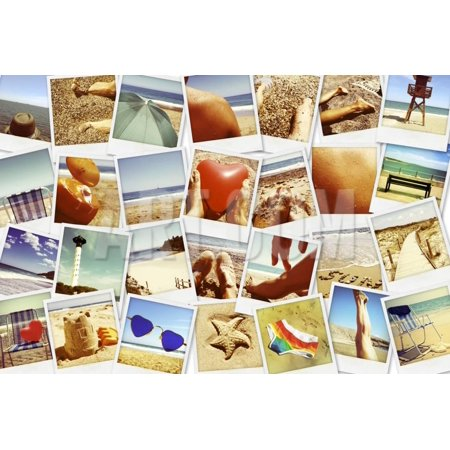 Mosaic with Pictures of Different Summer Scenes, Shot by Myself Print Wall Art By nito