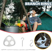 Fridja Outdoor BBQ Camping Stainless Steel Hanger Camping Tripod Branch Ring