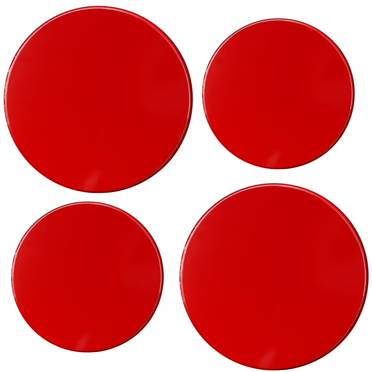Set of 4 Reston Lloyd Electric Stove Burner Covers Red