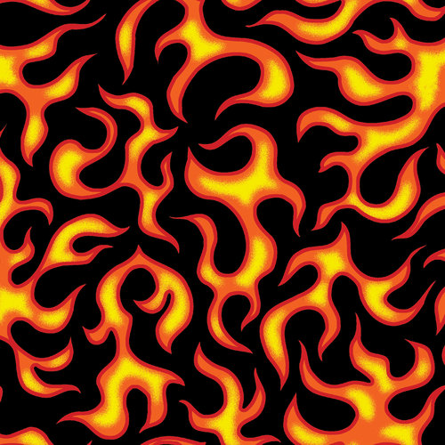 VIP Fabrics Anything Goes Flame Print Fabric