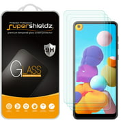 [3-Pack] Supershieldz for Samsung Galaxy A21 Tempered Glass Screen Protector, Anti-Scratch, Anti-Fingerprint, Bubble Free