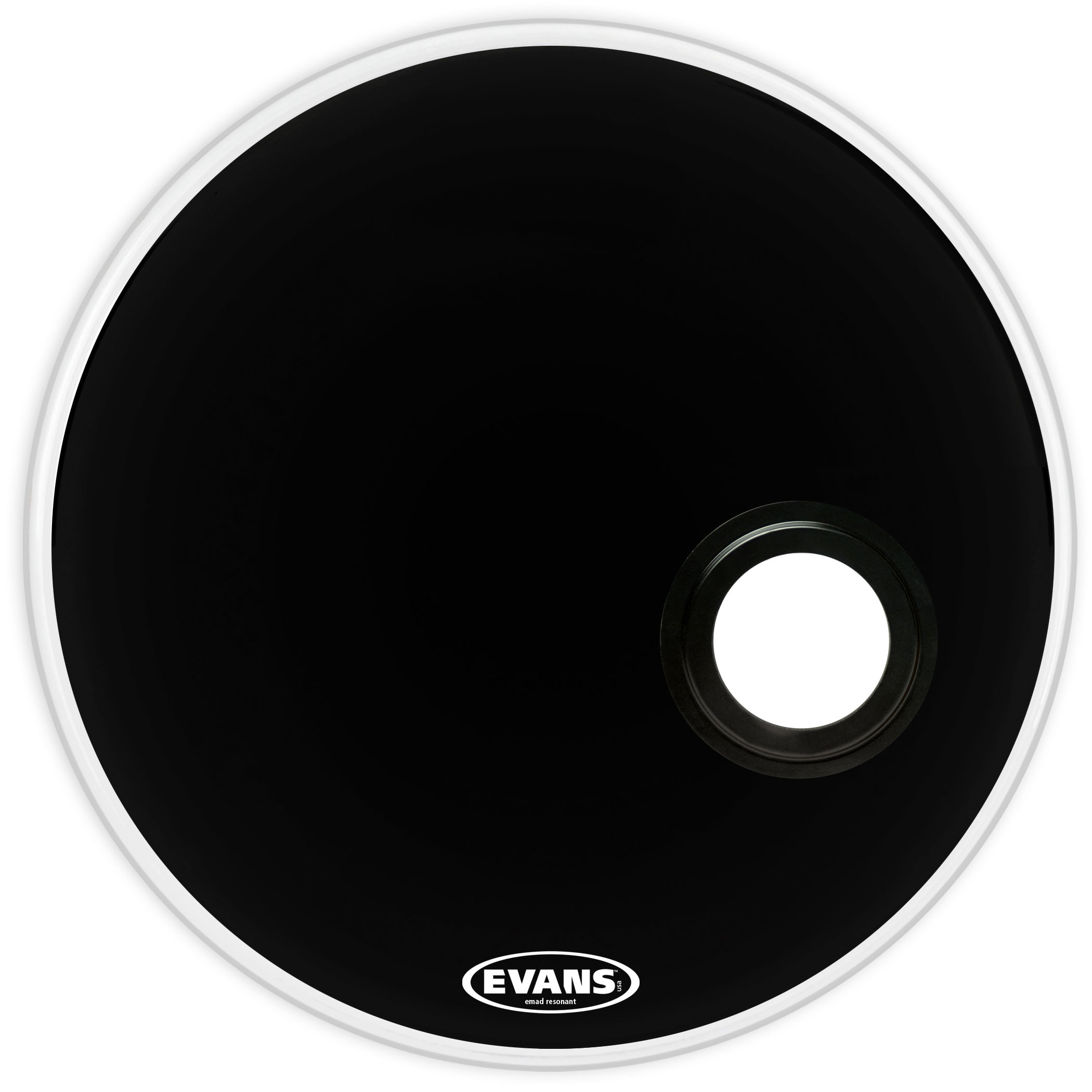 Evans BD20REMAD 20 Inch EMAD Resonant Black Bass Drum Head by D'Addario