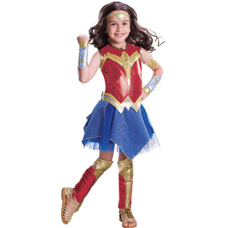 Wonder Woman Deluxe Child Halloween - Nerd Costume For Halloween For A Girl
