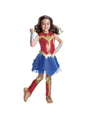 Girl's Deluxe Wonder Woman Movie Halloween Costume